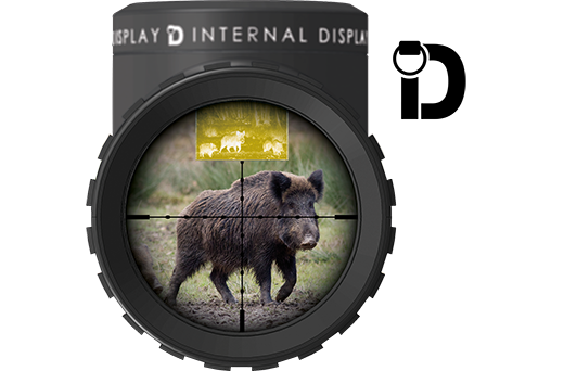 Sector Optics Internal Display technology can project the wider field of view of thermal devices and provide excellent situational awareness.