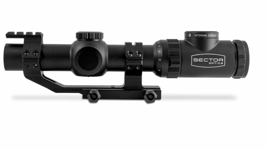 The Internal Display does not interfere with any standard function of the 1-8x24 riflescope.