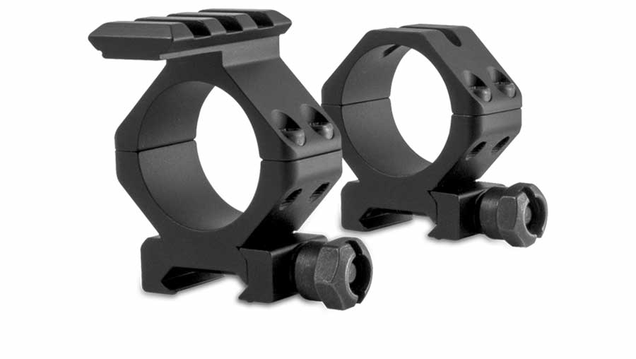 Sector Optics rings feature a Picatinny rail on the top of the front ring, thus allowing for the mounting of the T20X or T3 thermal imager on top of any 30mm or 34mm riflescope.