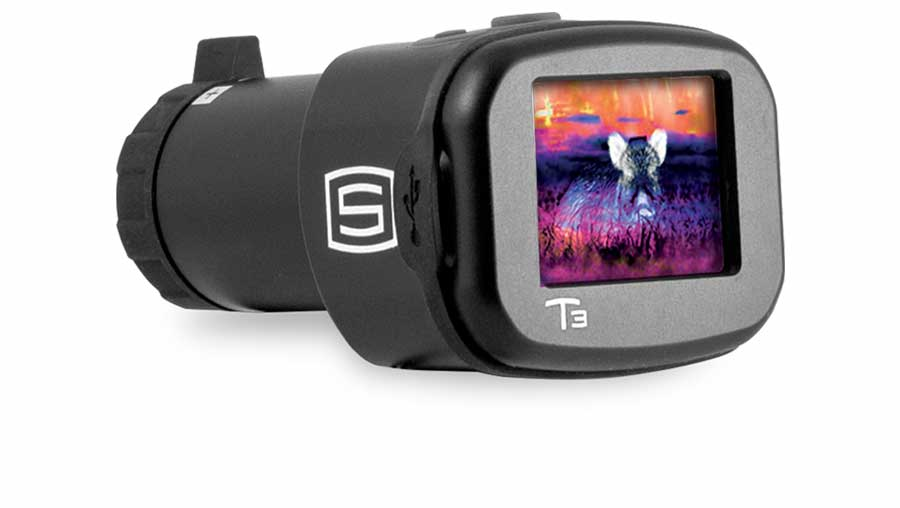 Sector Optics T3 thermal imager has multiple display views: white hot/black hot/ NV green/color