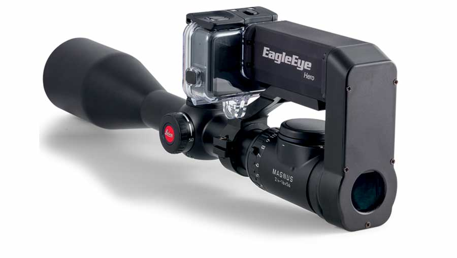 Sector Optics' EagleEye GS 10-100 gun scope attachment allow users to record and transmit hi-res photos and video using their own gun scope.