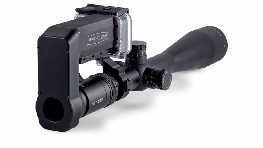 EagleEye GA 10-100 gun scope attachment is designed around the user friendly and well-known GoPro suite of Hero cameras.
