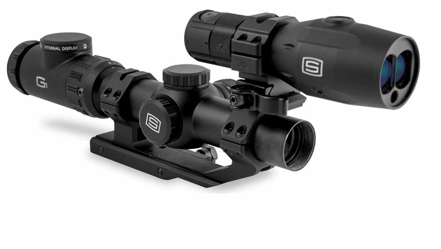 Sector Optics G1F1 system has a second focal plane reticle that maintains the same appearance throughout the 1-8x zoom range.