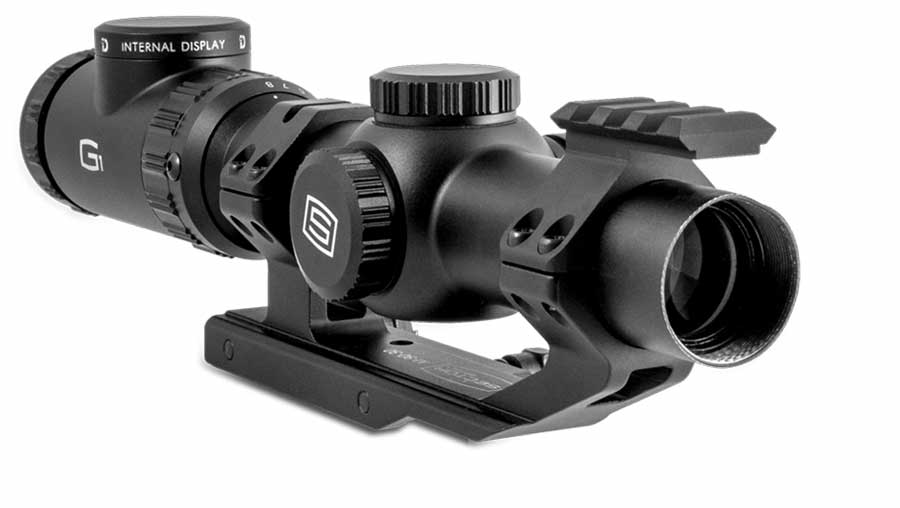Sector Optics G1 riflescope can expand the utilization of the riflescope by offering situational awareness while focusing on a target.
