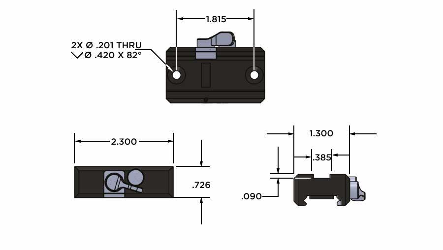 Sector Optics custom mounting solutions.