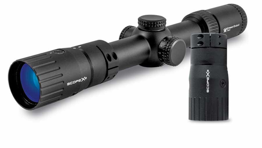 Sector Optics ScopeX2™ adapter double the range of your scope.
